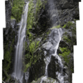WIth heavier flow, the falls form a curtain.- Henline Falls