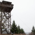 The lookout from the firepit and picnic area.- Pickett Butte Fire Lookout