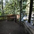 The new viewing deck.- Panther Creek Falls