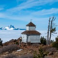 Coupola Lookout at Black Butte's summit (6,436 ft).- Black Butte Hike