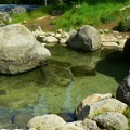 A cozy soaking pool on the rocky river bank.- Jerry Johnson Hot Springs