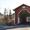 The Office Covered Bridge at the trailhead is the longest in Oregon.- North Fork Trail