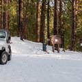 The Black Butte Trailhead in winter.- Black Butte Hike