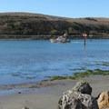 The Bodega Harbor channel.- Doran Regional Park + Doran Beach
