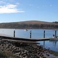The boat launch ramp in Doran Beach Regional Park is adjacent to the beach.- Doran Regional Park + Doran Beach