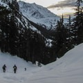 Descending the south side of Austin Pass.- Mount Ann