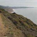Looking south along the Coast Trail.- Palomarin Hike to Bass Lake
