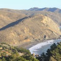 Muir Beach and the Marin Headlands as seen from Muir Beach Overlook 1.5 miles to the north.- Muir Beach