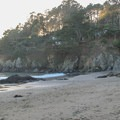 A hidden cove at the north end of Muir Beach.- Muir Beach