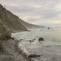 Southerly view from Damnation Cove.- Damnation Creek Trail