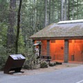 Restroom facility in Panther Flat Campground.- Panther Flat Campground