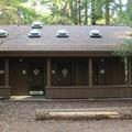Restroom Facilities in Jedediah Smith Campground.- Jedediah Smith Campground