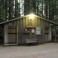 Restroom.- Florence Keller County Park + Campground
