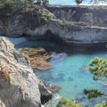 Jade green waters fill the coves along the Bird Island Trail.- Bird Island Trail
