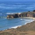 Andrew Molera State Beach framed by Molera Point headland.- Andrew Molera State Park