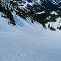 Heading down to Royal Lake.- Royal Basin Backcountry Ski Tour