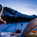 A beautiful night setting in over Royal Lake.- Royal Basin Backcountry Ski Tour