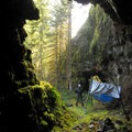 Waterworks tunnels just above Lower South Fork Clackamas Falls.- Clackamas + Memaloose Falls