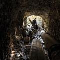 Exploring the tunnels.- Clackamas + Memaloose Falls