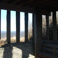 West viewing shelter at Bottle Beach State Park.- Bottle Beach State Park