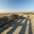 The observation platform in Westport Light State Park.- Westport Light State Park