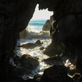 One of many sea caves at Pfeiffer Beach.- Pfeiffer Beach