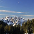 View southwest to Eagle Peak (5,958'), a part of the Tatoosh Range.- Paradise Valley Snowshoe Loop