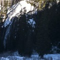 View below of Narada Falls.- Reflection Lakes + Inspiration Point