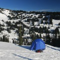 View east to Paradise Valley from Paradise Winter Campsite.- Paradise Winter Campsites