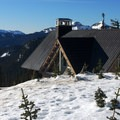 View of Paradise maintenance building.- Nisqually Vista Snowshoe Trail