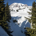 View of Myrtle Falls from Edith Creek Basin Trail.- Edith Creek Basin Snowshoe