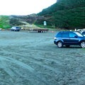 The parking lot at Trinidad State Beach.- Trinidad State Beach