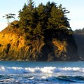 Pewetole Island just off of Trinidad State Beach.- Trinidad State Beach