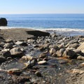 Limekiln Creek flows into the ocean at Limekiln State Park's beach.- Limekiln State Park