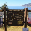 Information kiosk in Kirk Creek Campground.- Kirk Creek Campground