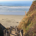 A stairwell leads down to the sand at Sand Dollar Beach.- Sand Dollar Beach