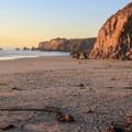 A golden evening at Sand Dollar Beach.- Sand Dollar Beach