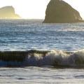 Pacific surf at College Cove Beach.- College Cove Beach