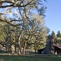 The old barn at Mount Pisgah Arboretum.- Mount Pisgah Arboretum Hike