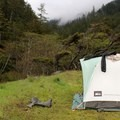 The second campsite of the trip at Buck Creek.- The Lost Coast Trail