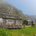 There are a few private cabins along the route.- The Lost Coast Trail
