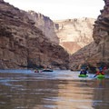 Early in the trip paddlers will enjoy the vertical walls of Marble Canyon.- The Grand Canyon of the Colorado River