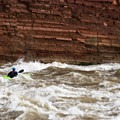 Unkar Rapid seen from within.- The Grand Canyon of the Colorado River