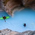 Entering the mouth of Havasu Creek.- The Grand Canyon of the Colorado River