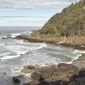 Cape Cove Beach is at the base of Cape Perpetua.- Cape Cove Beach + Devils Churn
