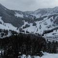 First full view of the Stevens Pass Resort.- Skyline Lake
