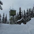 Radio tower just before Skyline Lake.- Skyline Lake