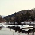 Beautiful, serene winter scenes.- Lake Wenatchee State Park North Loop