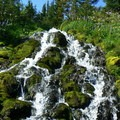 One of several waterfalls along the Round the Mountain Trail.- Round the Mountain Trail