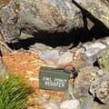 Owl Point registry box.- Owl Point Hike